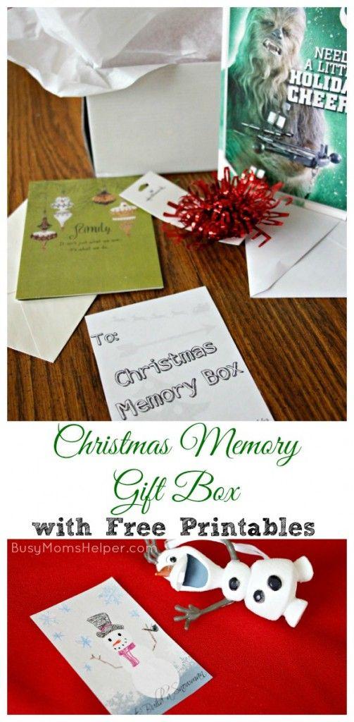 christmas memory gift box with free printables by busymomshelpercom sendhallmark ad