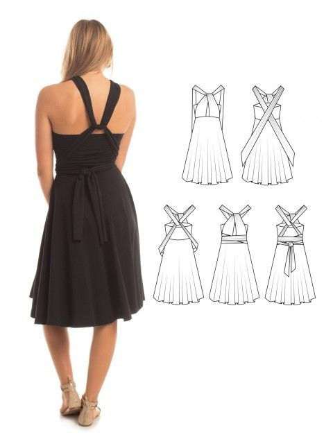 Essential Infinity Dress in Black - How to wrap an infinity dress - The perfect bridesmaid dress