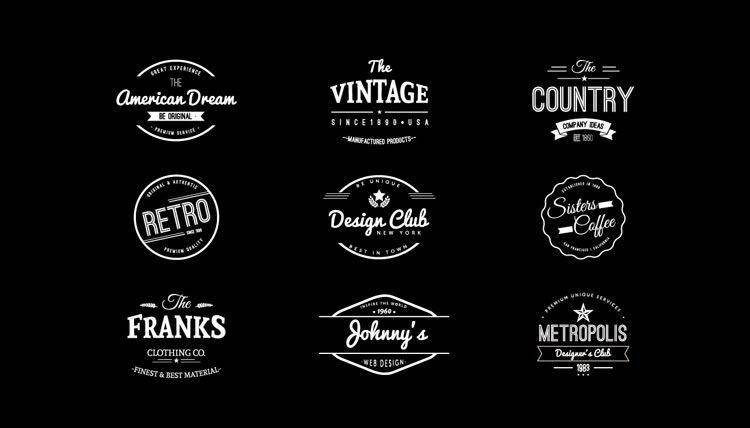 15 Free Vintage Logo & Badge Template Collections | Logos and Typography