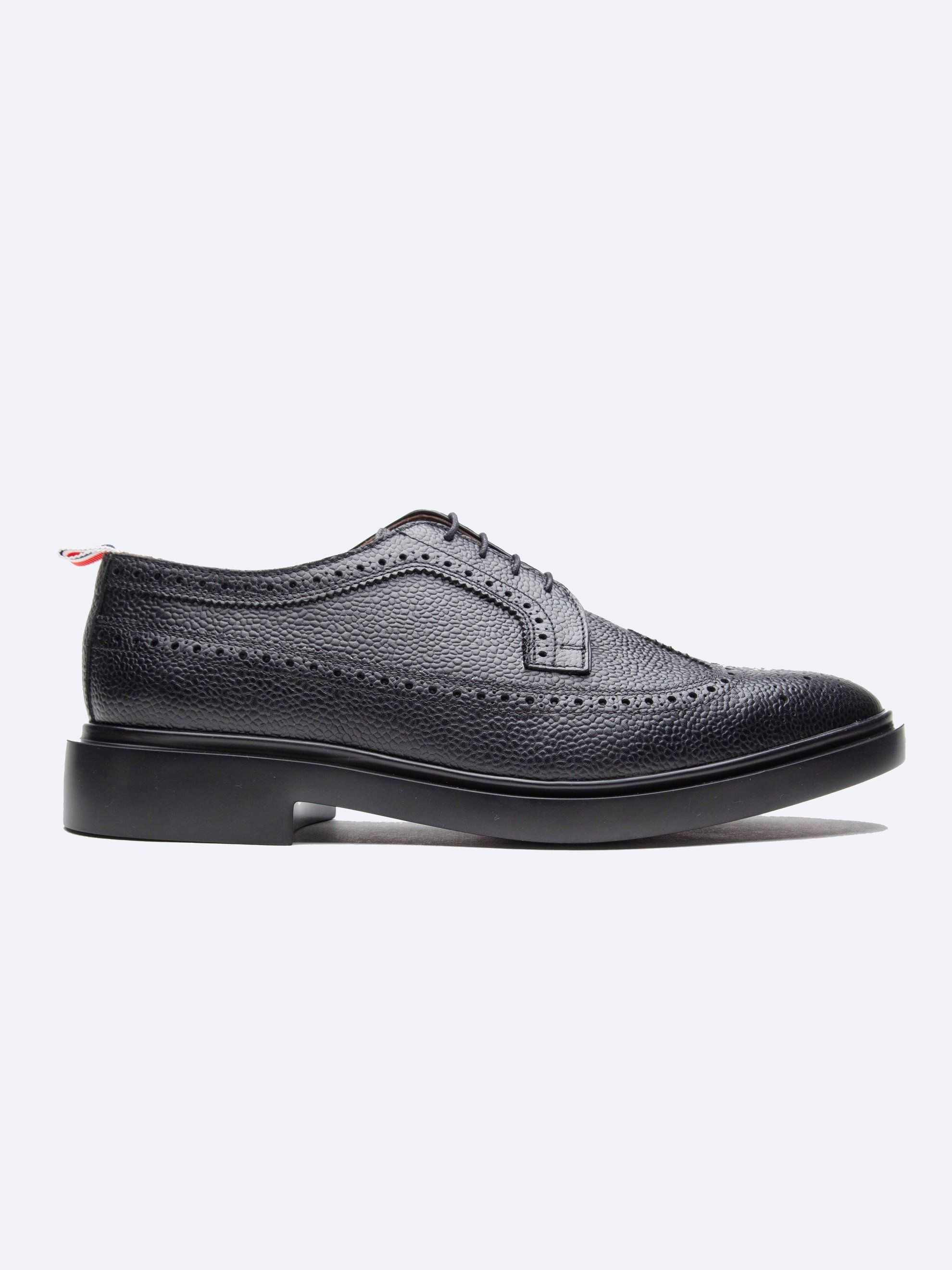 432a28b0e03ccb THOM BROWNE - Classic Long Wing Brogue (Lightweight Rubber Sole/Pebble Grain)  - $690.00
