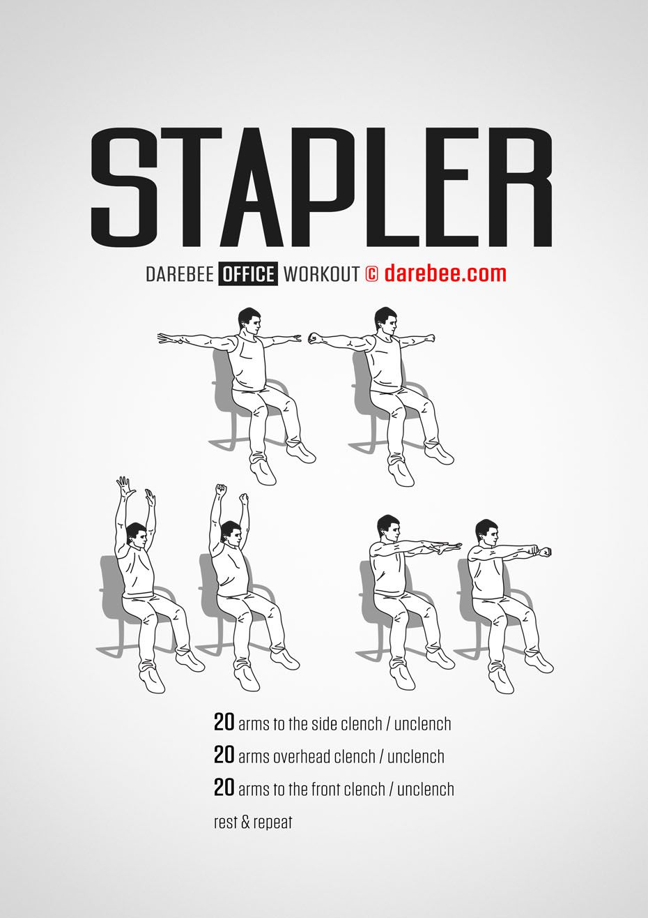 office chair ab workout