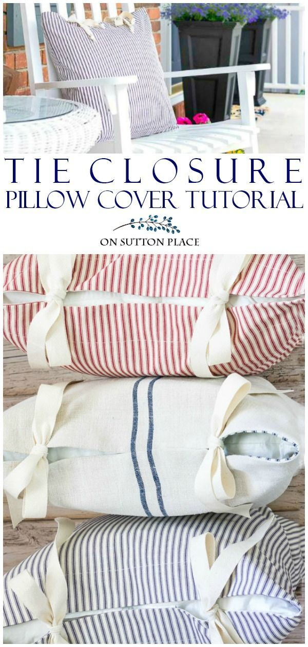 tie closure pillow cases