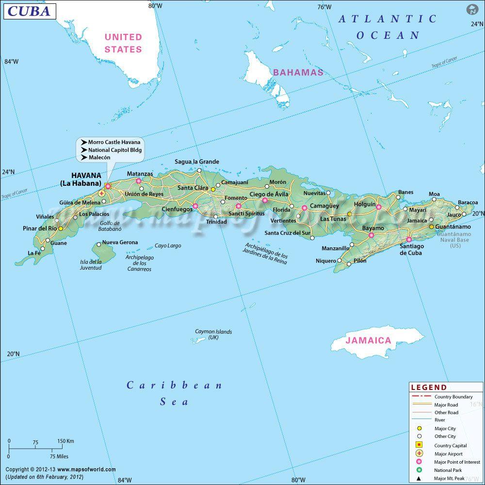 Cuba Travel Guide Travel Map Of Cuba Cuba Travel Cuba Map Of Cuba