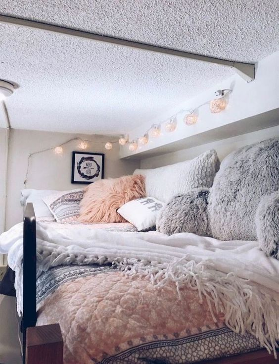 8 Cute dorm rooms for girls college on a Budget