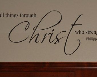Bible Verse Wall Decal Christian Wall By Part 50