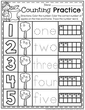 Number Worksheets With Images Math Centers Kindergarten