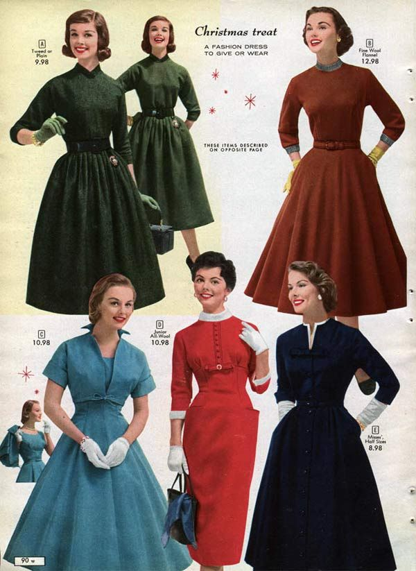 1950s Dresses Skirts Styles Trends Pictures Vintage Fashion 1950s Vintage Outfits Vintage Dresses