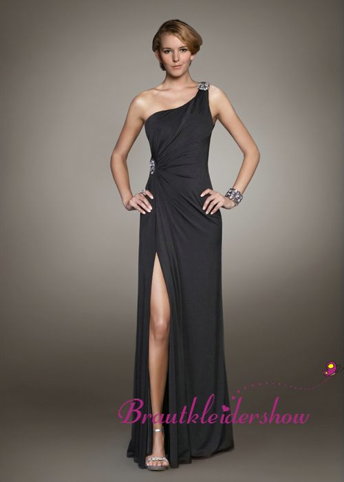 Abendkleider lang one shoulder