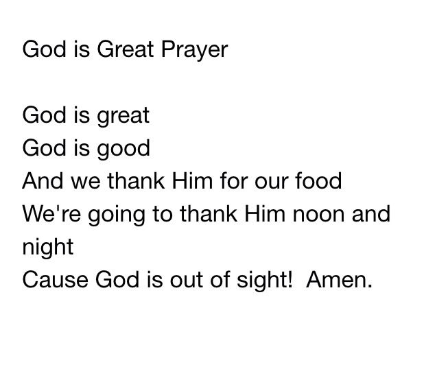 God Is Great Prayer