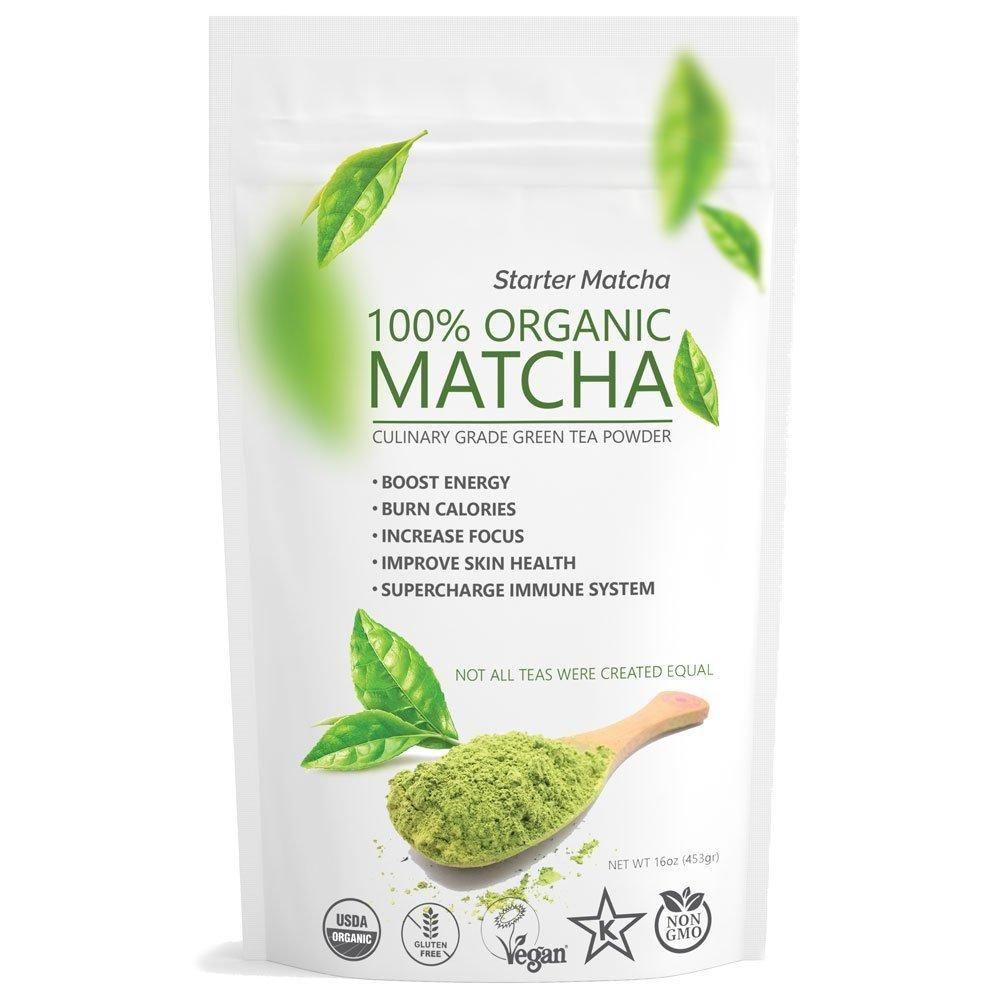 Green Matcha USDA Organic, NonGMO Certified, Vegan and