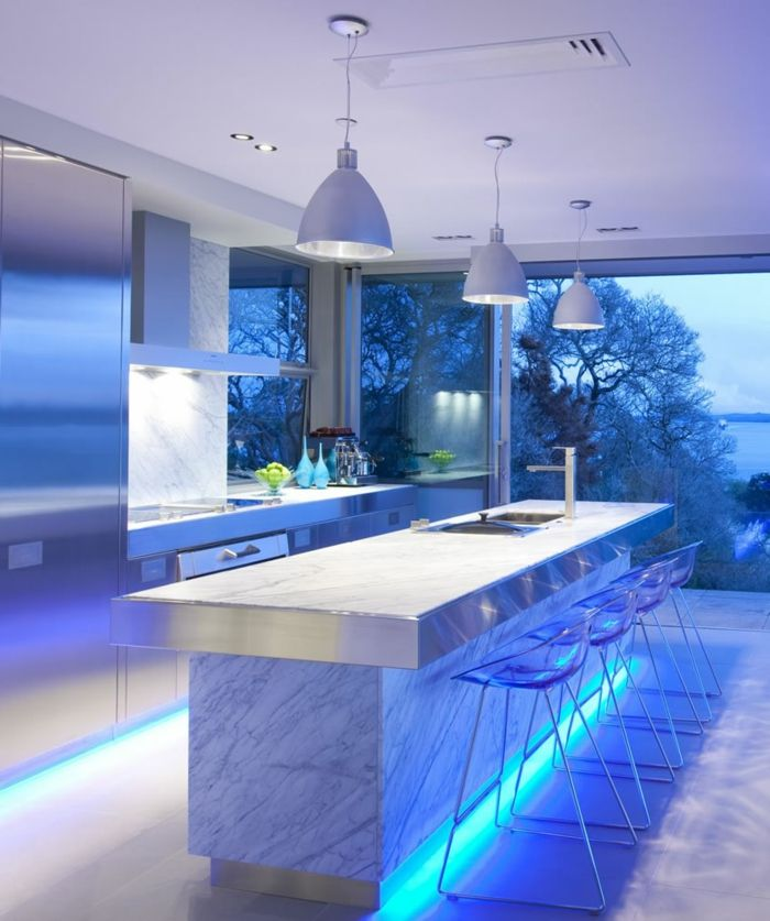 Helle Wandfarben Moderne Farbpalette Wandfarbe Hellblau In Der Küche