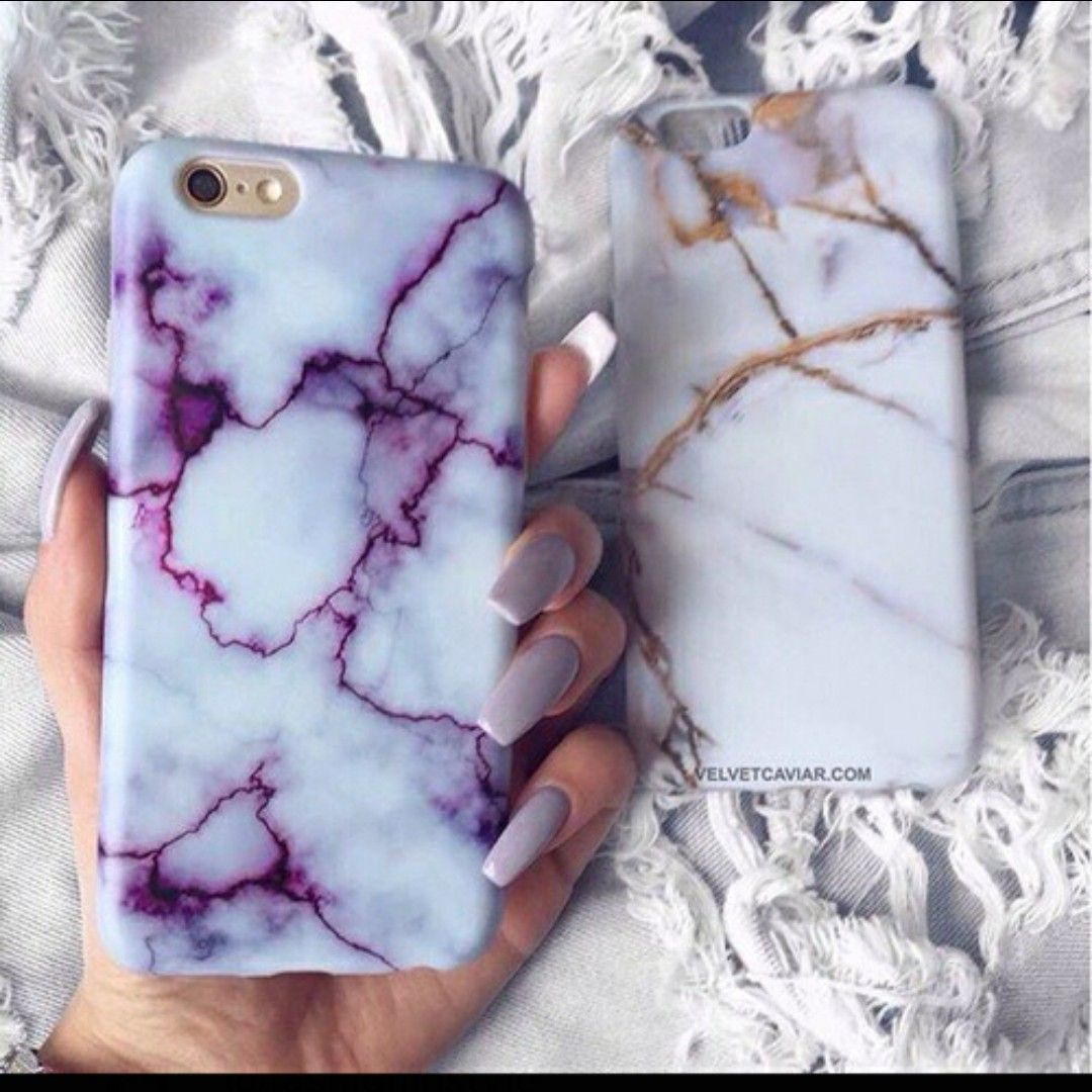 Marble Phone Case Hard PC Funda Cover for iPhone