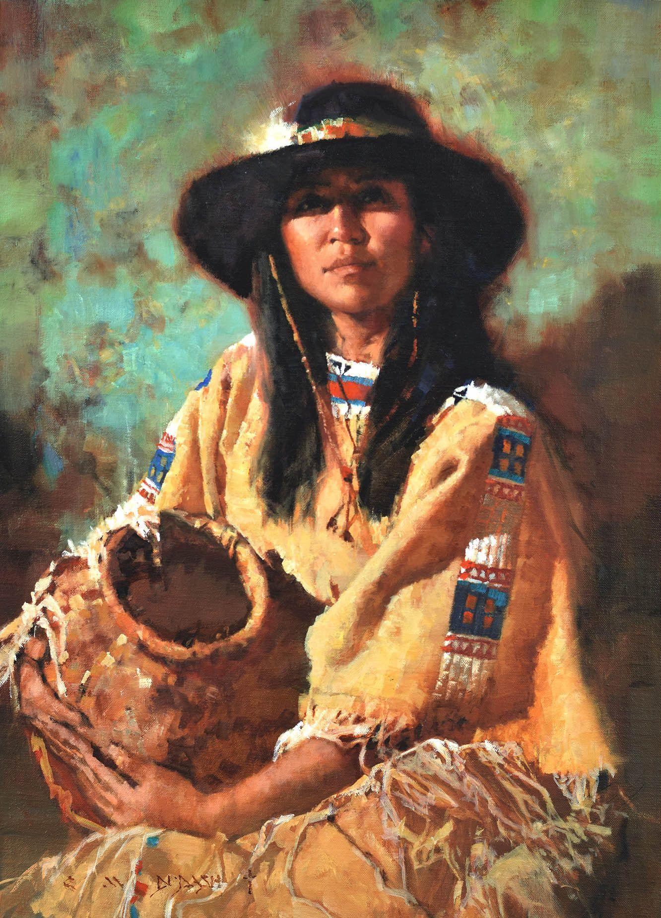 """SERENITY"" Artist C. Michael Dudash Native american art"