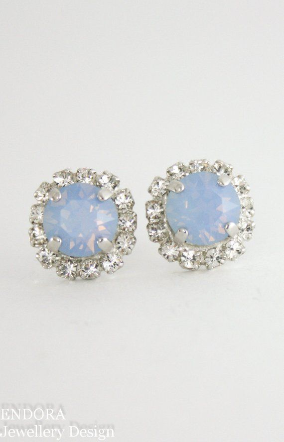 8d7237017 Blue opal crystal earrings,Blue opal earring,Swarovski earrings,Blue bridal  jewelry,blue bridal earr