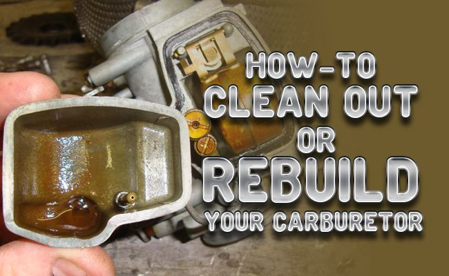 How to Clean Out or Rebuild your Motorcycle's Carburetor