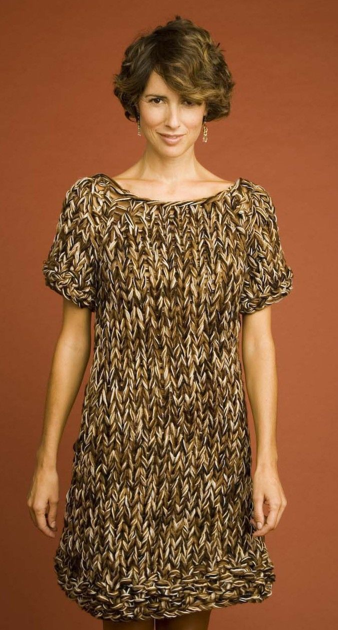 Speed Stix Mini Dress Pattern (Knit) - Patterns - Lion Brand Yarn ...