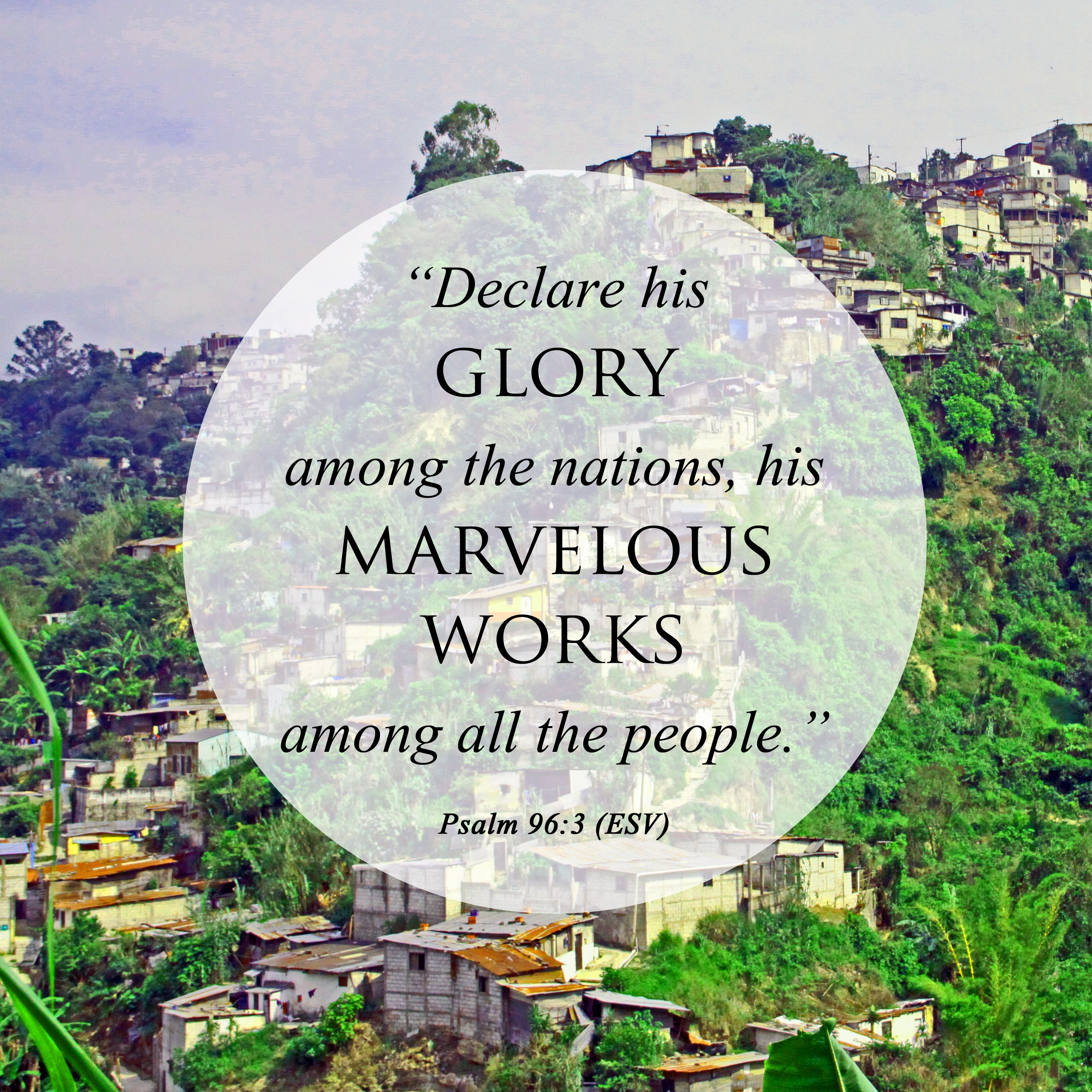 Image result for images of declare his glory among the nations