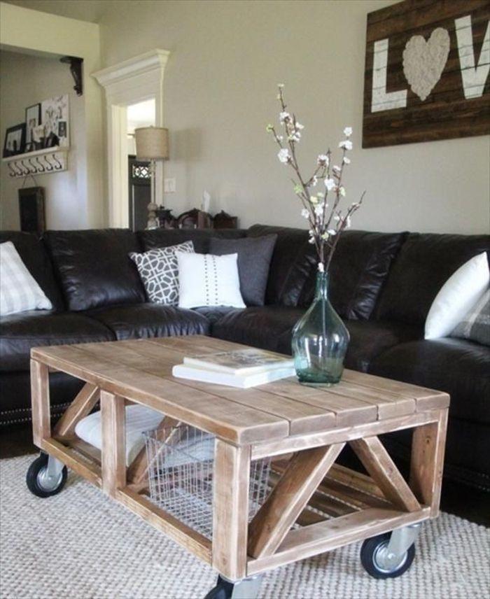 Holztisch selber bauen  holztisch aus paletten bauen | Masa | Pinterest | Holztisch ...