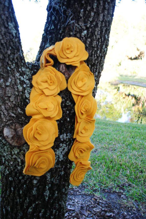 handmade ruffled fleece scarf