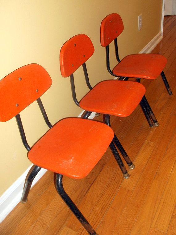 Vintage Plastic School Chairs