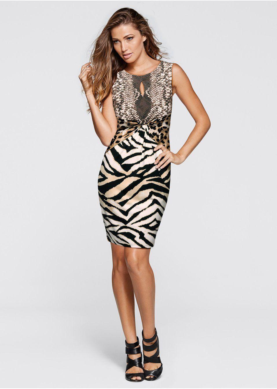 d5a5cc4a669a5 Elbise kaplan desenli kahve/siyah - Kadın - bonprix.com.tr | Dresses ...