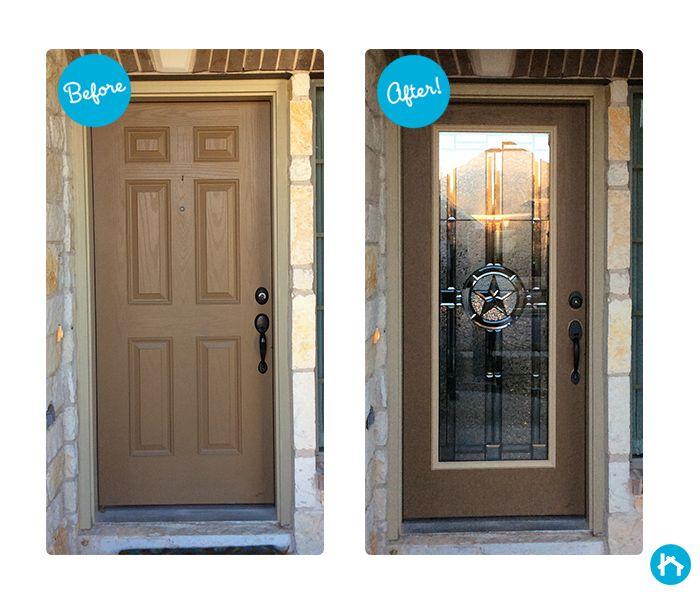 Attrayant Elegant Star Decorative Door Glass   Front Door Transformation!