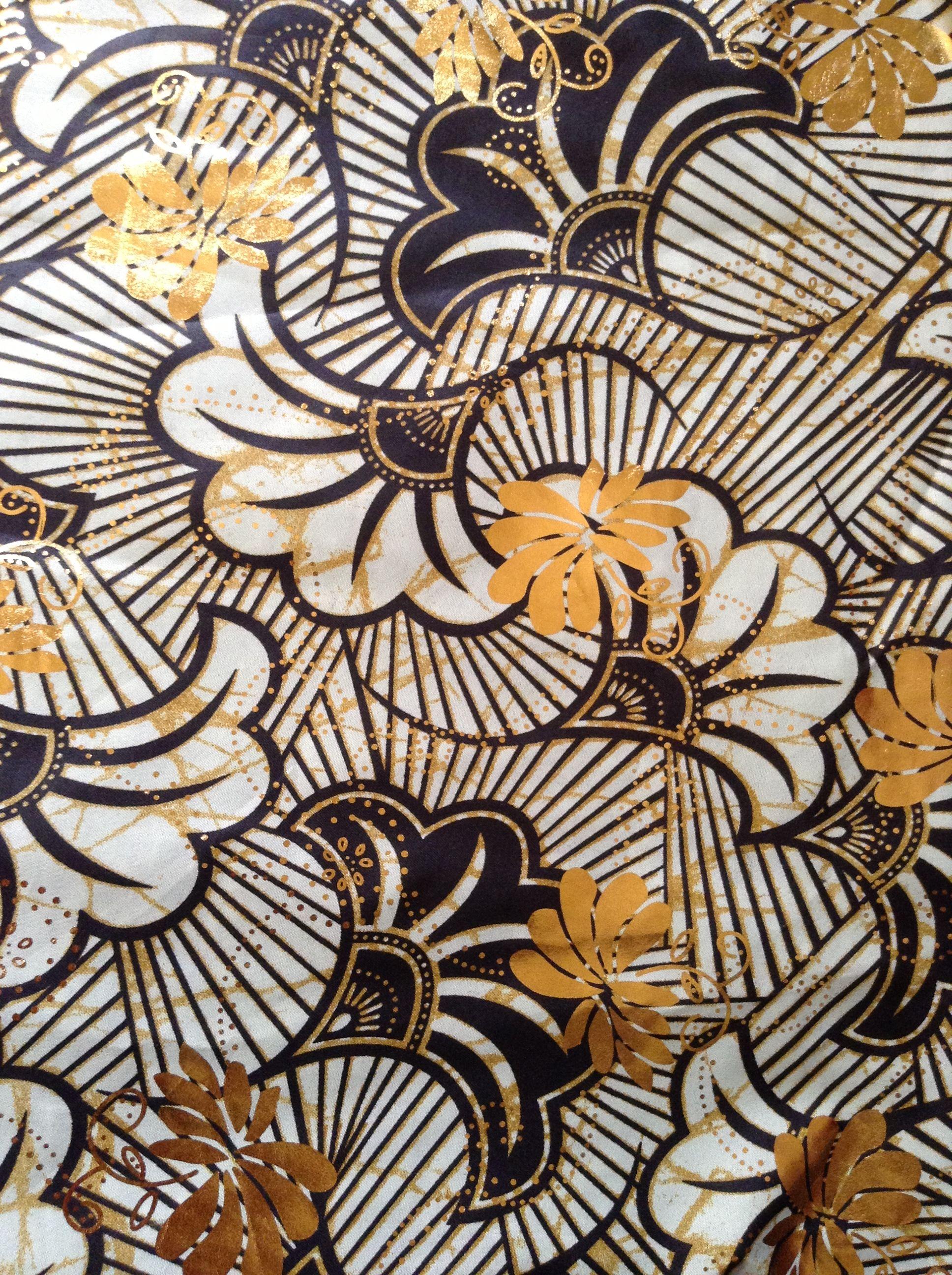 Beautiful African Wax Print Fabric From Senegal Goree