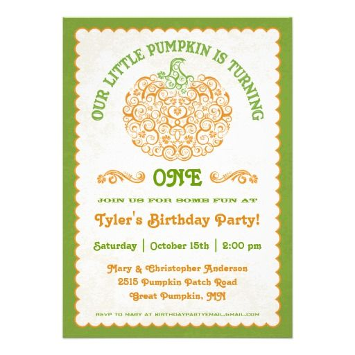 Lacy Little Pumpkin Birthday Invitation Make Your Own Invites More Personal To Celebrate The Arrival Of A New Baby Just Add Photos And Words This
