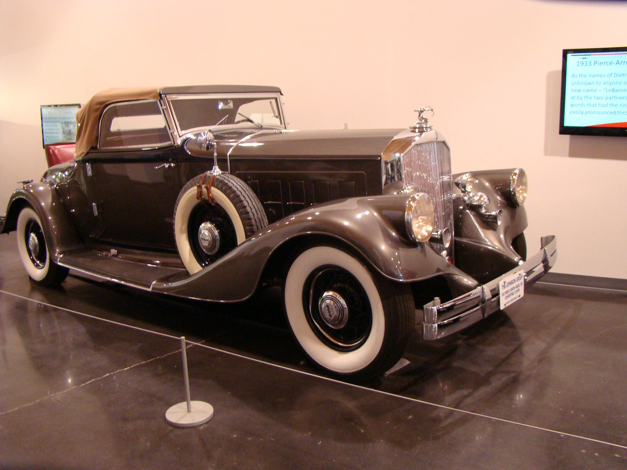 1933 Pierce Arrow Brought To You By The Car Insurance Agents At
