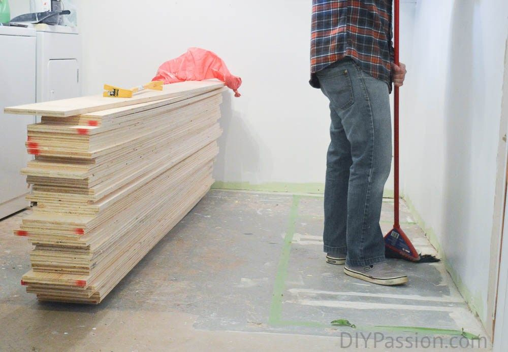 How To Update Concrete Floors For A Rustic Look Flooring Plywood Flooring Diy Concrete Slab