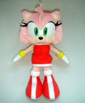 Amazon Com Sonic The Hedgehog Amy 8 Inch Plush Toy Toys Games Disney Precious Moments Sonic Birthday Parties Sonic Plush Toys