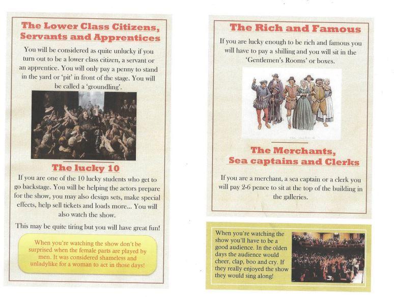 Katie's Elizabethan theatre fact file.
