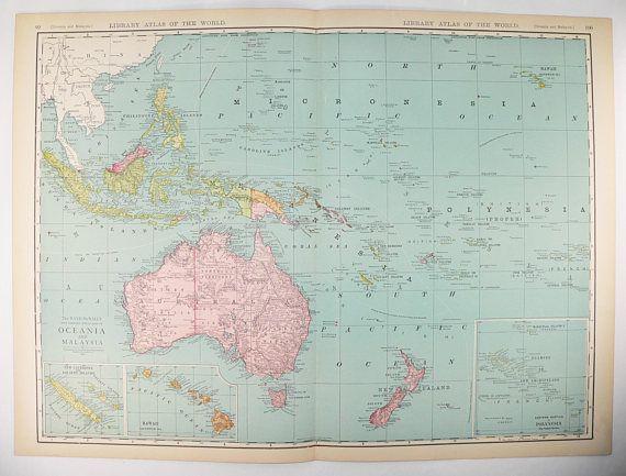 Large oceania map malaysia 1912 rand mcnally pacific ocean islands large oceania map malaysia 1912 rand mcnally pacific ocean islands map vintage australia map hawaii gumiabroncs Gallery