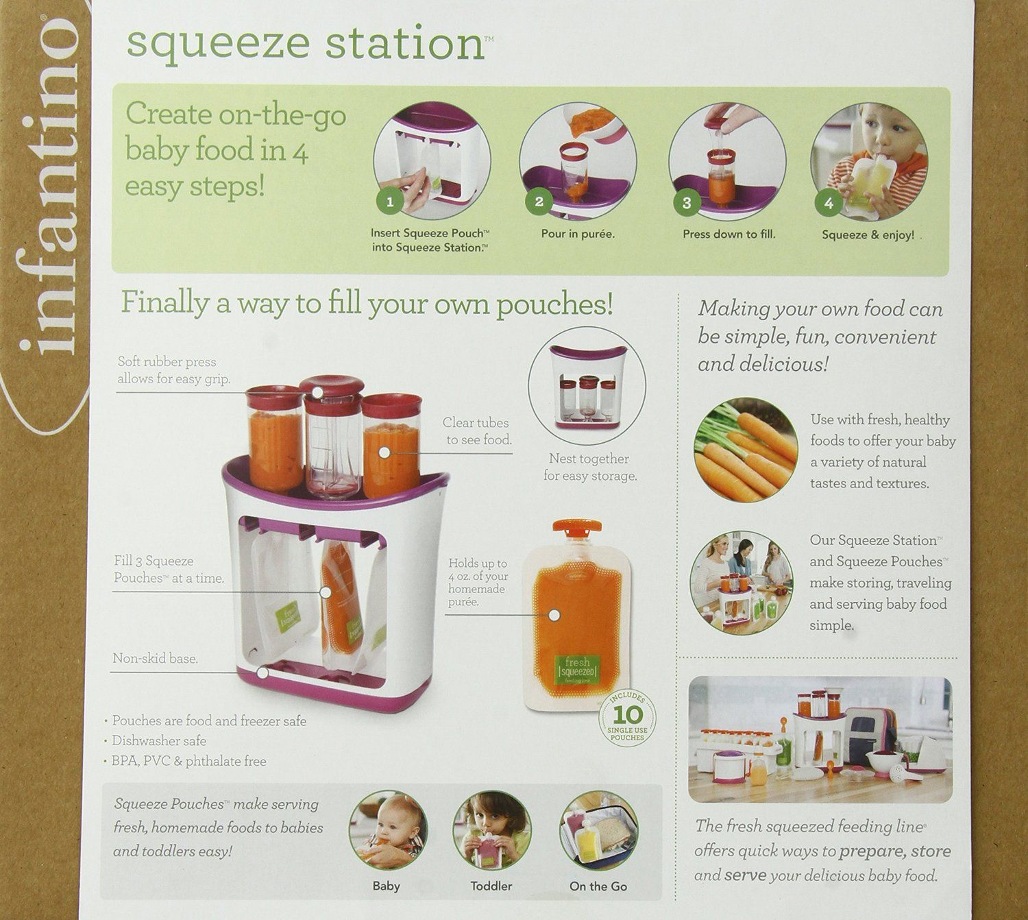 Infantino Squeeze Station: make your