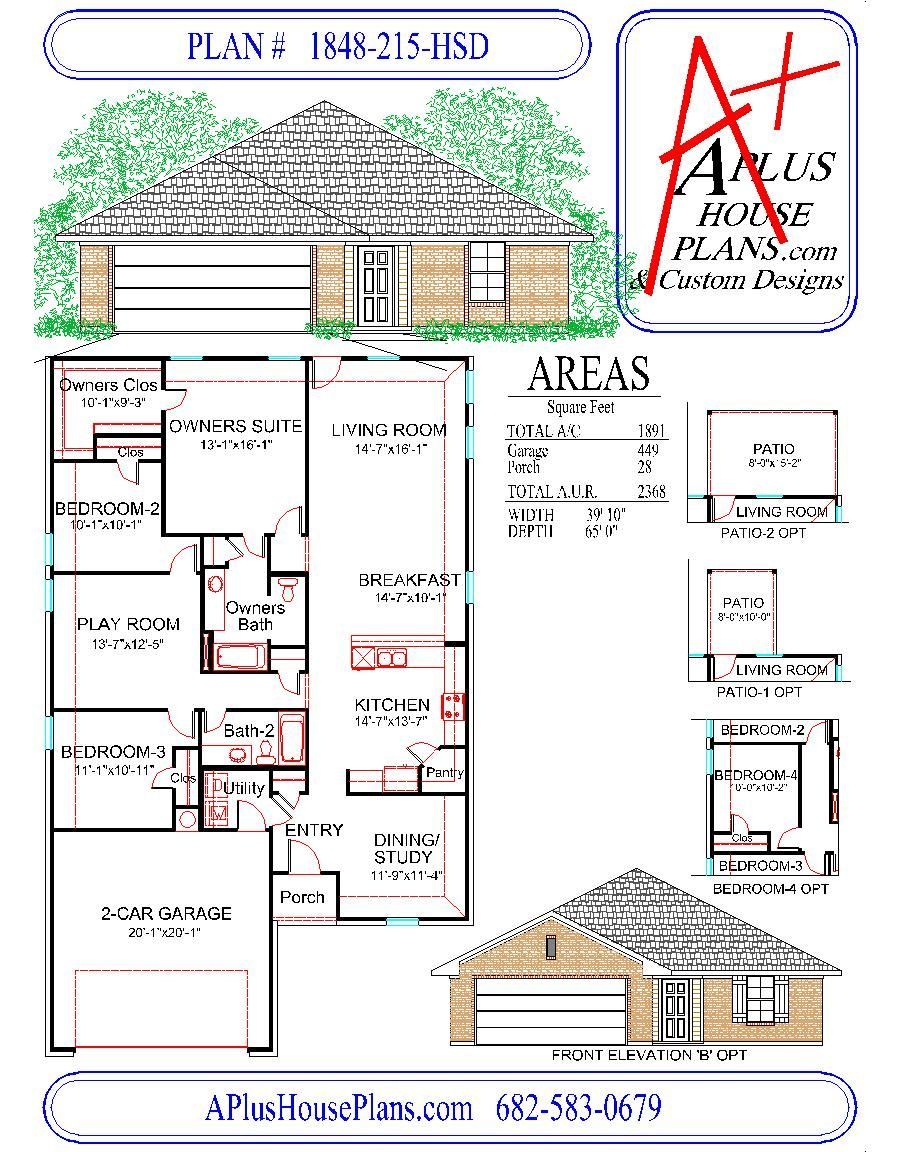 Front Elevation Floor Plan : House plan hsd traditional front elevation