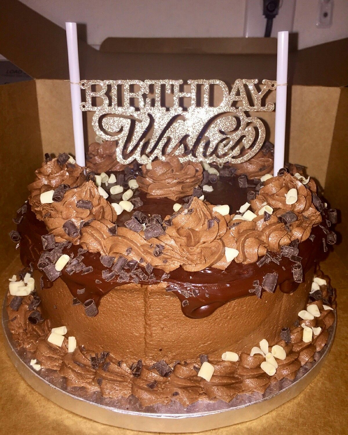 Chocolate On Birthday Cake Order By Monique Salazar