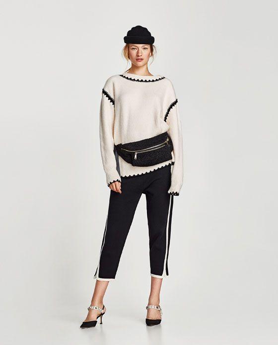 Zara Dan 1 Yanlari Seritli Jogging Pantolonu Resmi Side Stripe Trousers Side Stripe Fashion