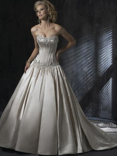 Strapless Silver Wedding Dress Front | Wedding Dress Inspiration ...