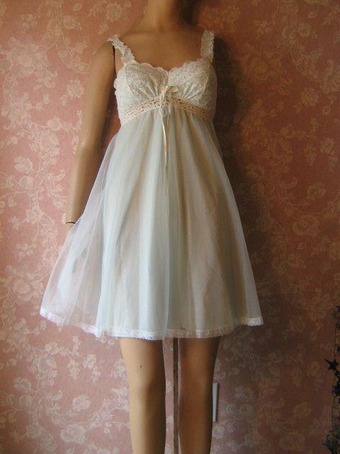 vintage olga sleeping pretty babydoll nightgown