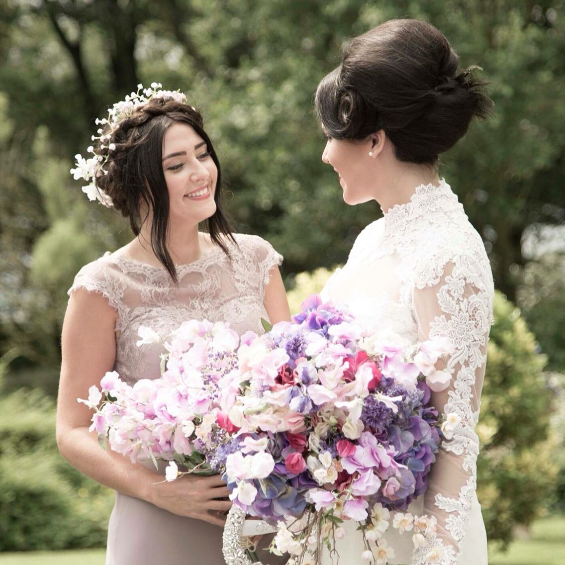 Artificial Sweet Peas Hydrangeas Peonies And Blossom Wedding