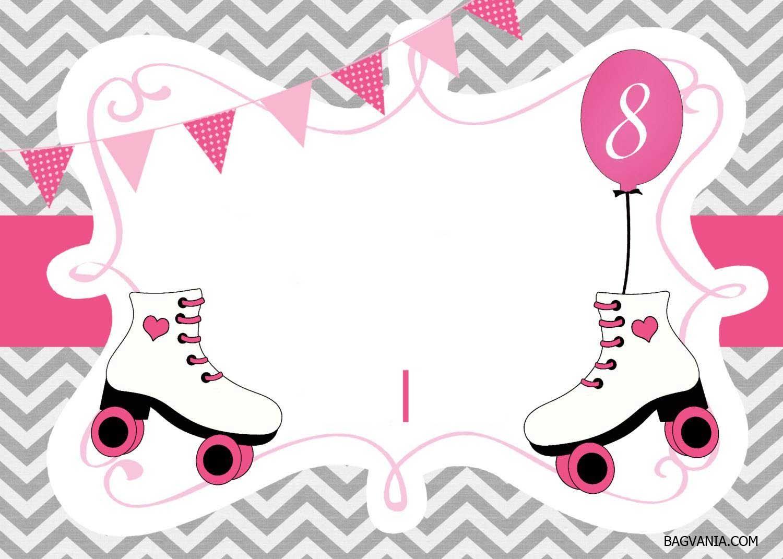 Cool Free Printable Ice Skating Birthday Invitations Template