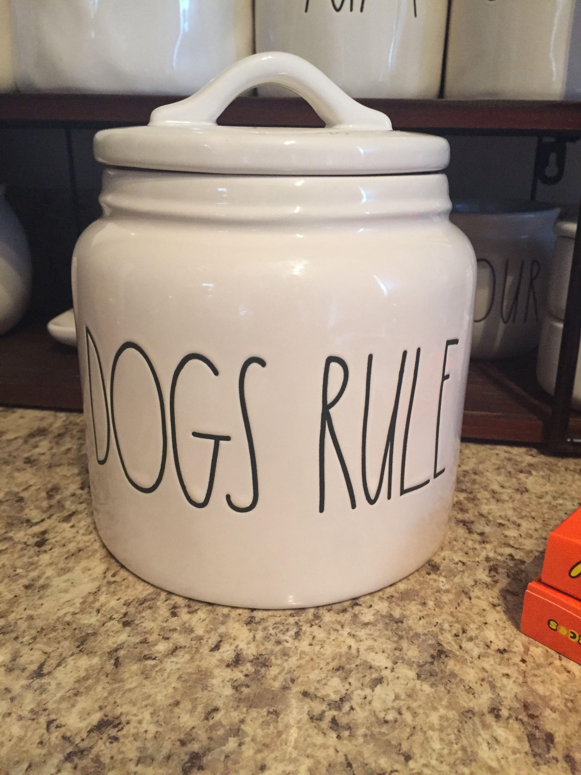 Rae Dunn Dogs Rule Rae Dunn Pottery Mason Jar Mug