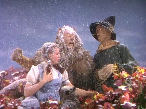 Image result for snow scenes in wizard of oz