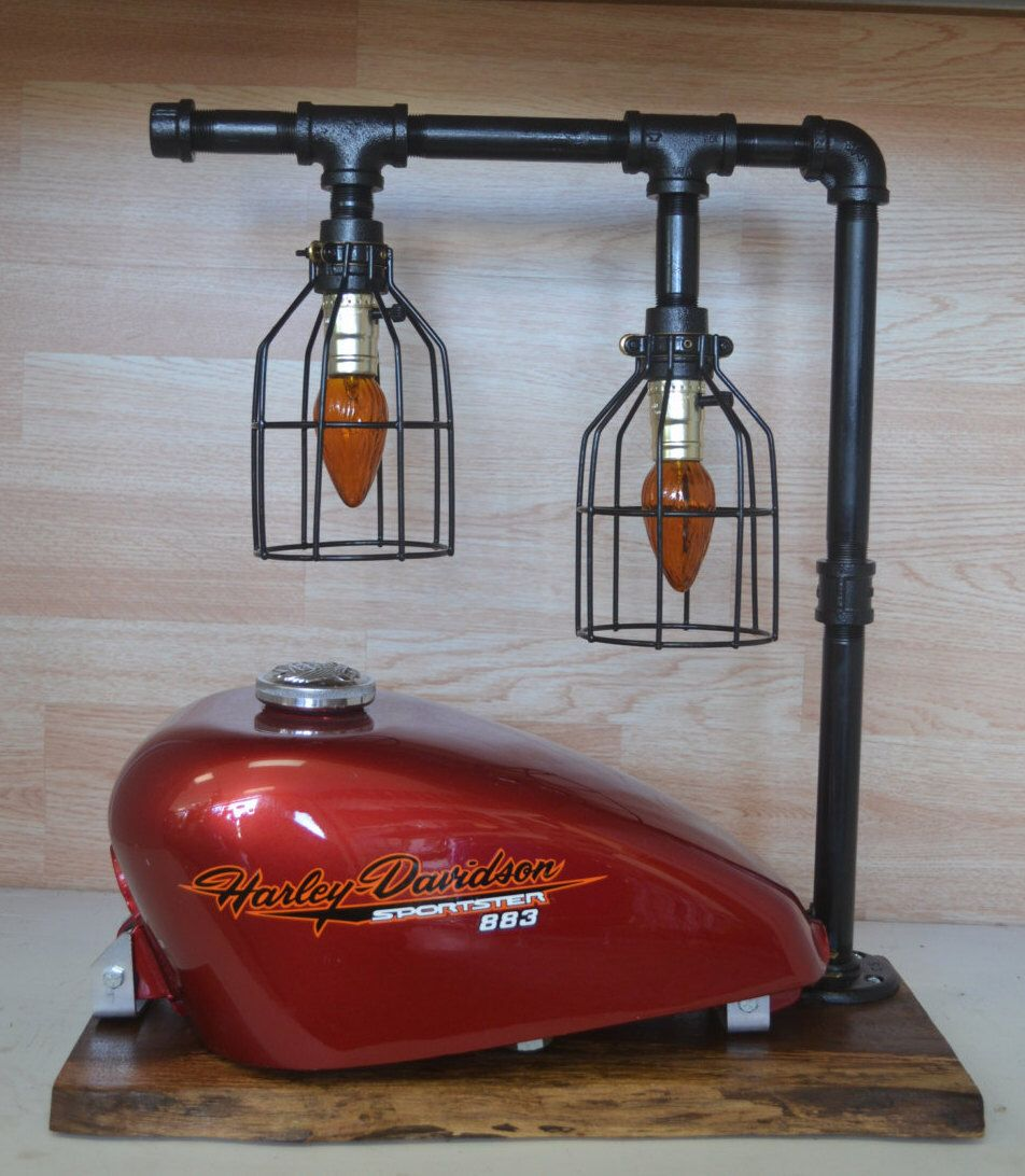 Motorcycle Gas Tank Desk / Table Lamp