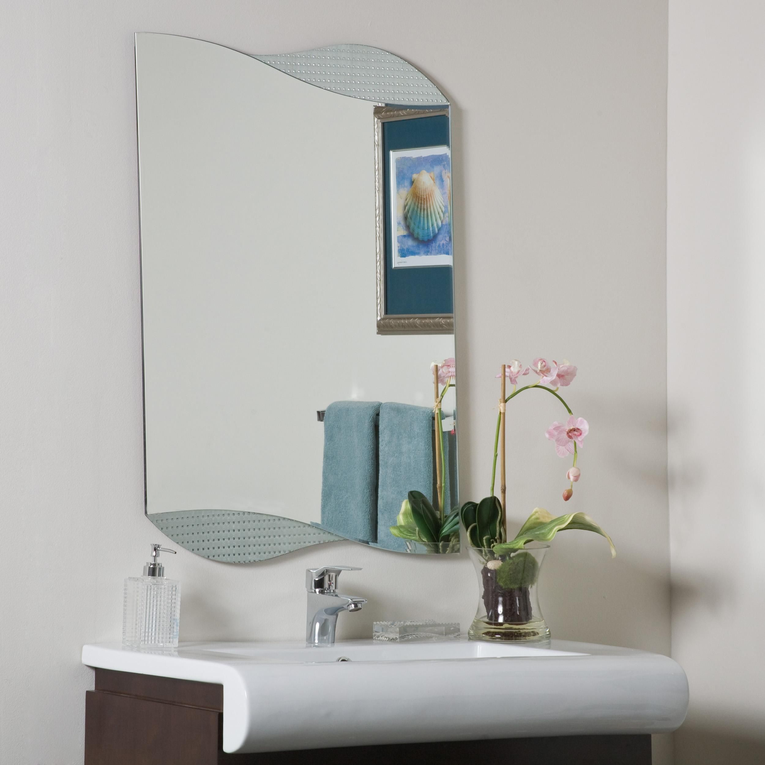 Wonderland Sonia Bathroom Mirror Silver Metal