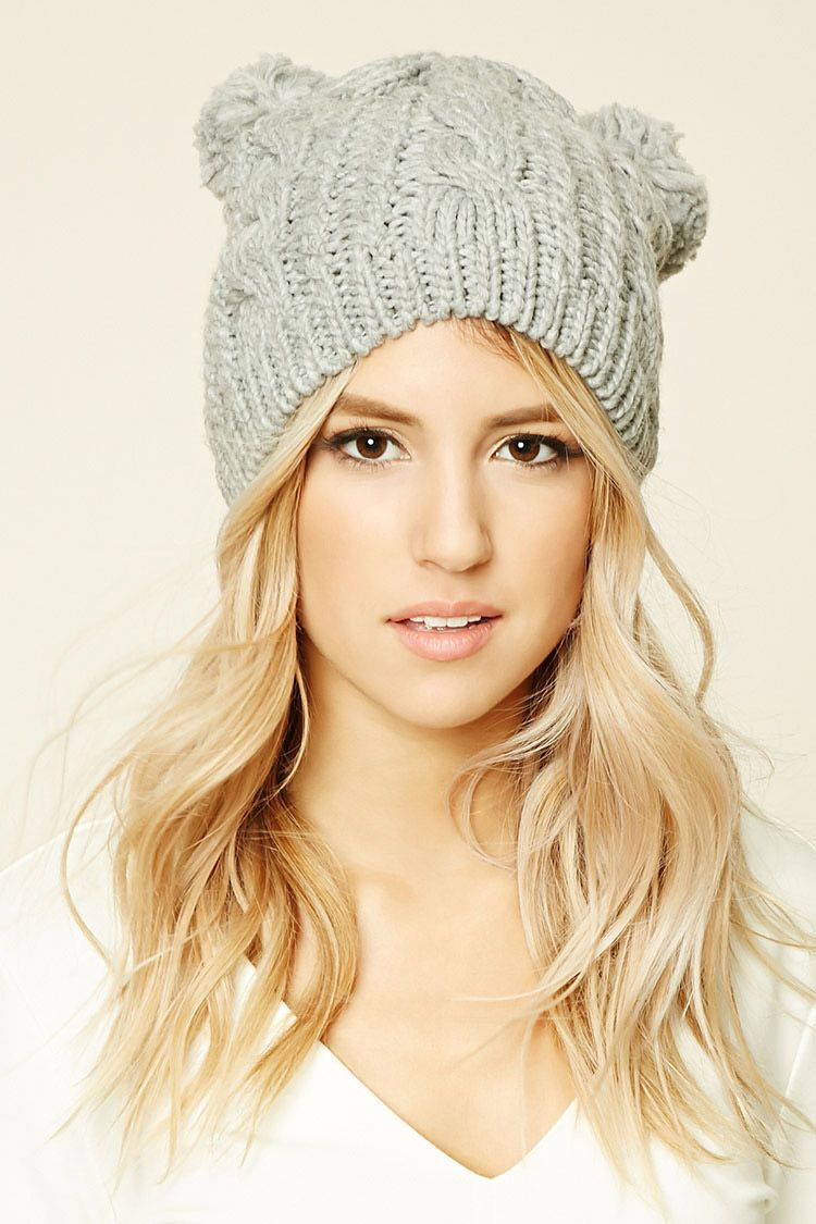 23e66cc96833b adorable forever 21 beanie Cable Knit Hat