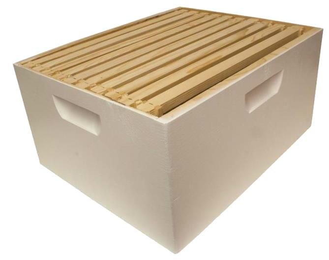 Harvest Lane Honey WWBCD-101 Deep Brood Box with 10 Frames ...