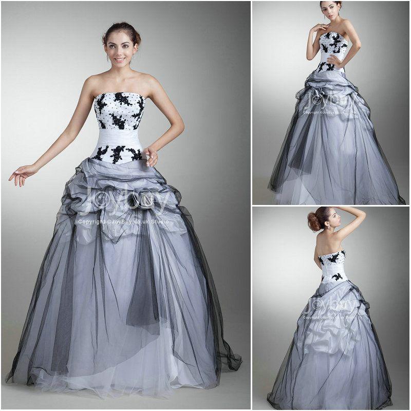 Black_And_White_Modest_Ball_Gown_Wedding_Dresses__9__130039553054325.jpg (800×800)