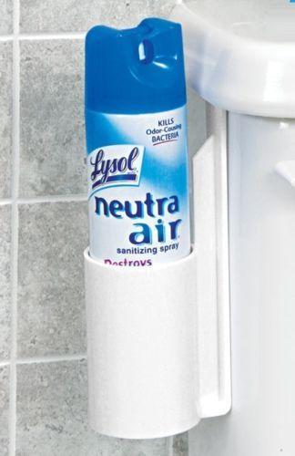 Toilet Air Freshener Can Holder Caddy Organiser Bathroom Lavatory Cistern  Spray | eBay