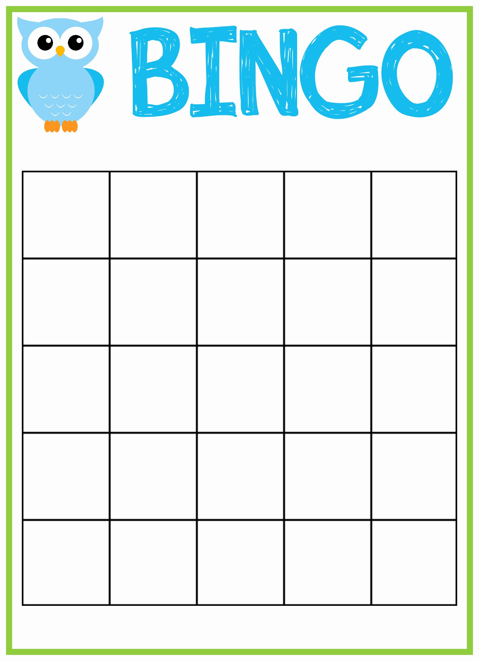 Free Printable Blank Bingo Cards For Baby Shower : printable, blank, bingo, cards, shower, Bingo, Template, Beautiful, Shower, Cards, Template,, Printable,